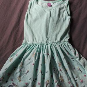 Girls DopoDopo sea life blue dress 3T 4T